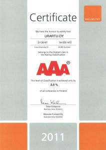 AAA Certificate 2011