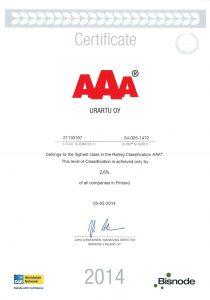 AAA Certificate 2014