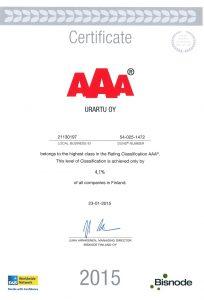 AAA Certificate 2015